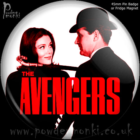 Avengers - Retro Cult TV Badge/Magnet