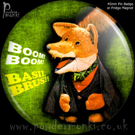 Basil Brush - Retro Cult TV Badge/Magnet