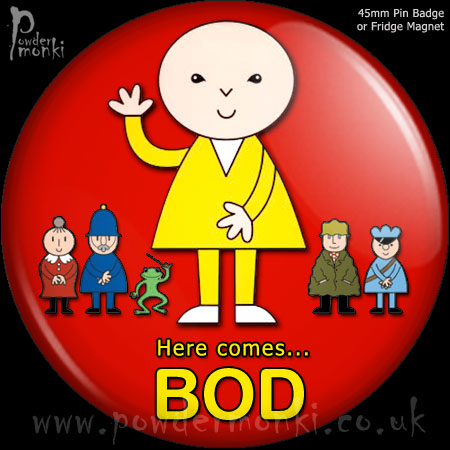 Bod - Retro Cult TV Badge/Magnet