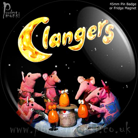 Clangers - Retro Cult TV Badge/Magnet