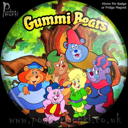 Gummi Bears - Retro Cult TV Badge/Magnet