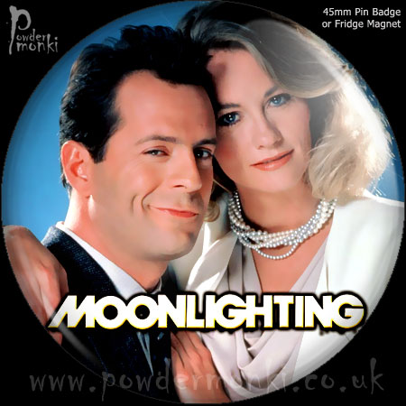 Moonlighting - Retro Cult TV Badge/Magnet
