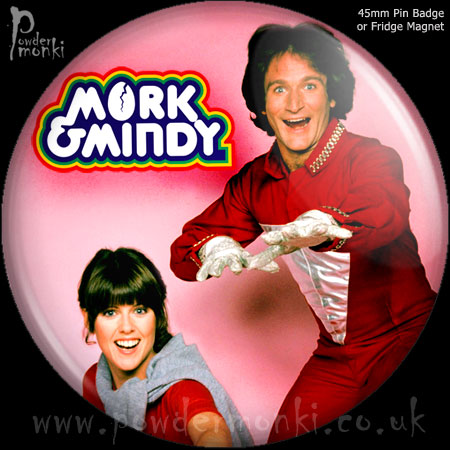 Mork & Mindy - Retro Cult TV Badge/Magnet