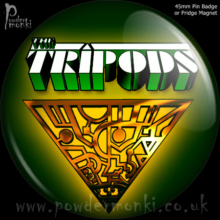 Tripods - Retro Cult TV Badge/Magnet