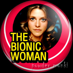 Bionic Woman - Retro Cult TV Badge/Magnet