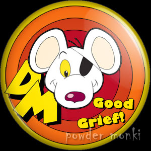 Danger Mouse - Retro Cult TV Badge/Magnet