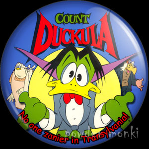 Count Duckula - Retro Cult TV Badge/Magnet