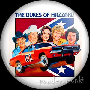 Dukes Of Hazzard - Retro Cult TV Badge/Magnet