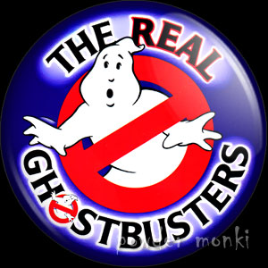 Real Ghostbusters - Retro Cult TV Badge/Magnet