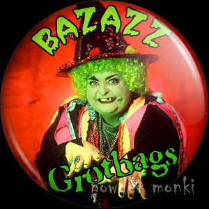 "Grotbags ""Bazazz!"" - Retro Cult TV Badge/Magnet"