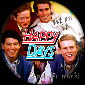 Happy Days - Retro Cult TV Badge/Magnet