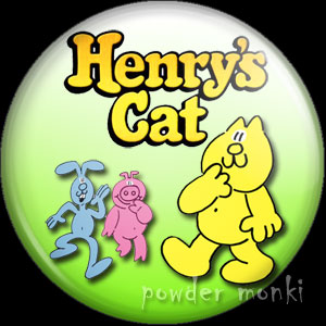 Henry's Cat - Retro Cult TV Badge/Magnet
