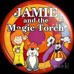 Jamie and the Magic Torch - Retro Cult TV Badge/Magnet