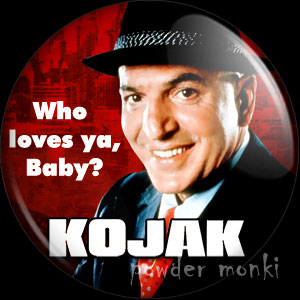 Kojak - Retro Cult TV Badge/Magnet