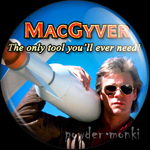MacGyver - Retro Cult TV Badge/Magnet