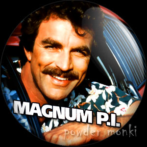 Magnum P.I. - Retro Cult TV Badge/Magnet