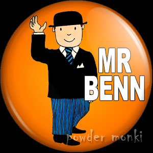 Mr Benn - Retro Cult TV Badge/Magnet