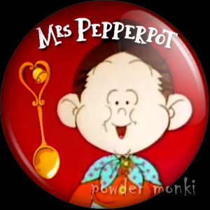 Mrs Pepperpot - Retro Cult TV Badge/Magnet