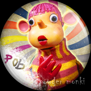 Pob - Retro Cult TV Badge/Magnet