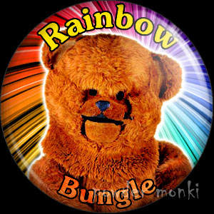 "Rainbow ""Bungle"" - Retro Cult TV Badge/Magnet"