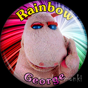 "Rainbow ""George"" - Retro Cult TV Badge/Magnet"