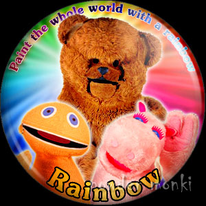 "Rainbow ""Zippy, George & Bungle"" - Retro Cult TV Badge/Magnet"