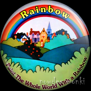 Rainbow - Retro Cult TV Badge/Magnet