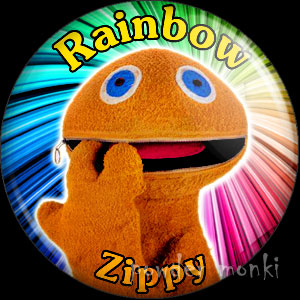 "Rainbow ""Zippy"" - Retro Cult TV Badge/Magnet"