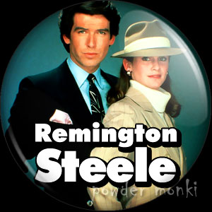 Remington Steele - Retro Cult TV Badge/Magnet