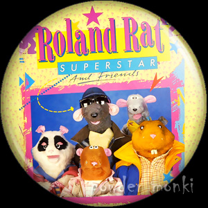 Roland Rat - Retro Cult TV Badge/Magnet