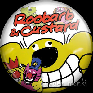Roobarb & Custard - Retro Cult TV Badge/Magnet