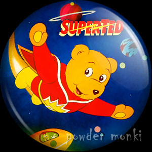 SuperTed - Retro Cult TV Badge/Magnet