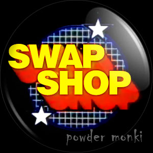 Multi Coloured Swap Shop - Retro Cult TV Badge/Magnet