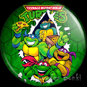 Teenage Mutant Ninja Turtles - Retro Cult TV Badge/Magnet