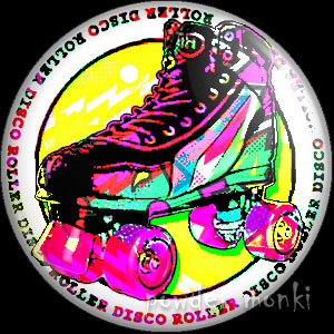 Skate Boot - Roller Disco Badge/Magnet 2