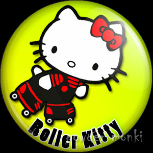 Roller Kitty - Roller Derby Badge/Magnet 2