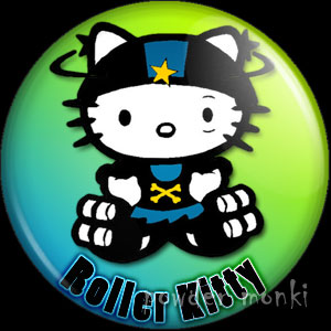 Roller Kitty - Roller Derby Badge/Magnet 3