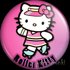 Roller Kitty - Roller Derby Badge/Magnet 4