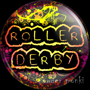 Roller Derby Badge/Magnet 1