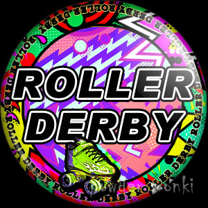 Roller Derby Badge/Magnet 2
