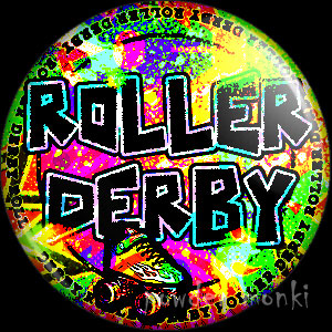 Roller Derby Badge/Magnet 3