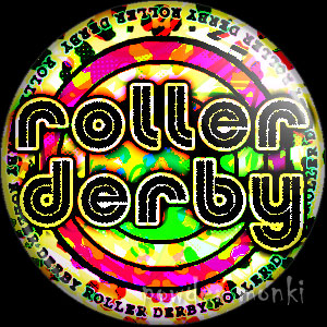 Roller Derby Badge/Magnet 4