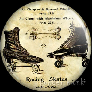 Racing Skates - Roller Skating Badge/Magnet