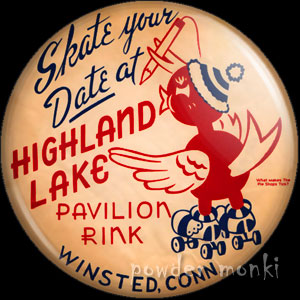 Skate Your Date - Roller Skating Badge/Magnet