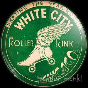 Skating The Year Round - Roller Skating Badge/Magnet