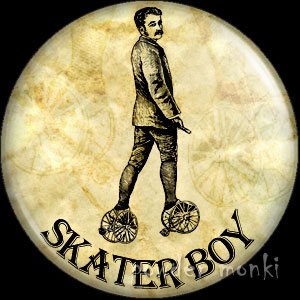 Skater Boy - Roller Skating Badge/Magnet