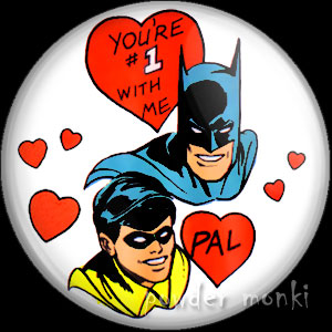 """You're Number One With Me Pal"" - Retro Valentine Badge/Magnet"