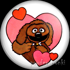 Rowlf The Dog - Retro Muppets Valentine Badge/Magnet