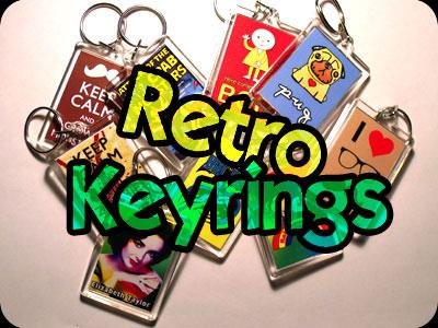 Retro Keyrings