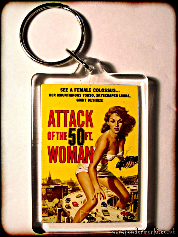 Attack Of The 50ft Woman - Retro B-Movie Keyring